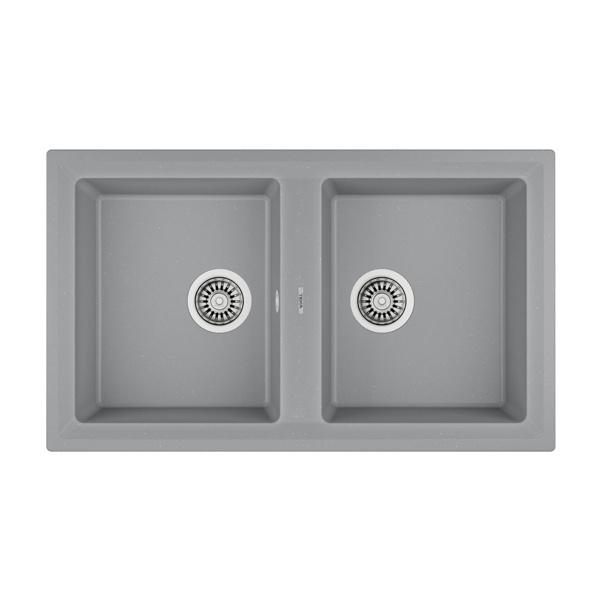 Εικόνα από Νεροχύτης Teka Stone 90 C-TG 2C (86x51) Metallic Grey N.440.MG