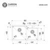 Εικόνα από Νεροχύτης Carron Phoenix Aruba 6205 86x50cm White