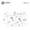 Εικόνα από Νεροχύτης Carron Phoenix Aruba 6205 86x50cm Black