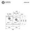 Εικόνα από Νεροχύτης Carron Phoenix Aruba 6200 78x50cm Black