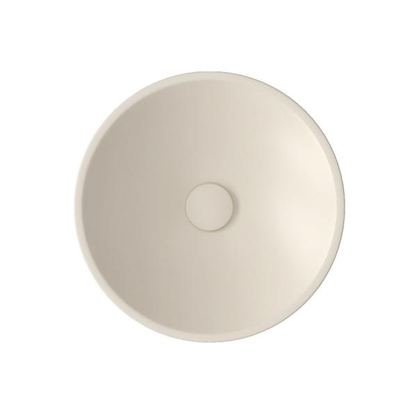 Εικόνα από Νιπτήρας Μπάνιου Bianco Ceramica Lupo 33010-311 Ø45cm Ivory Matt