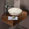 Εικόνα από Νιπτήρας Μπάνιου Bianco Ceramica Lupo 33010-530 Ø45cm Taupe Matt