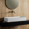 Εικόνα από Νιπτήρας Μπάνιου Scarabeo Teorema 80 5102-301 80x40cm Λευκό Ματ