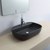 Εικόνα από Νιπτήρας Μπάνιου Scarabeo Glam/R 1802-401 56x38cm Μαύρο Ματ