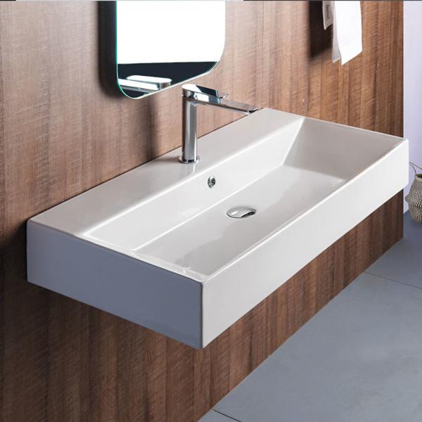 Εικόνα από Νιπτήρας Μπάνιου Bianco Ceramica Tetra N 32090 90x42cm
