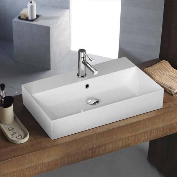 Εικόνα από Νιπτήρας Μπάνιου Bianco Ceramica Tetra N 32070 70x42cm