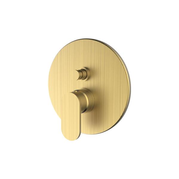 Εικόνα από Μίκτης Εντοιχισμού 2 Εξόδων Armando Vicario Slim 500050D-201 Brushed Gold