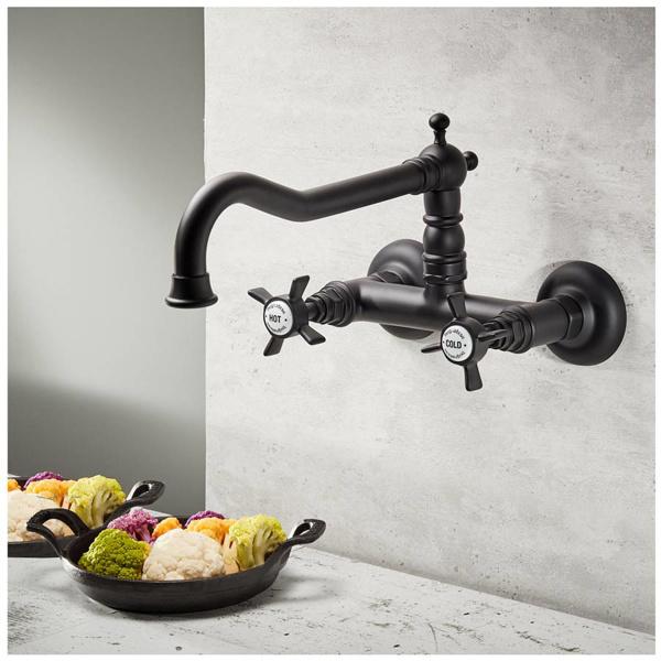 Εικόνα από Μπαταρία Κουζίνας Τοίχου Bugnatese Princeton 852-400 Black Matt