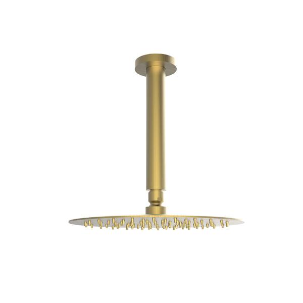 Εικόνα από Ανακλινόμενη Κεφαλή Ø25 Με Μπράτσο Οροφής 20cm Armando Vicario 800351-201 + 800087-201 Brushed Gold
