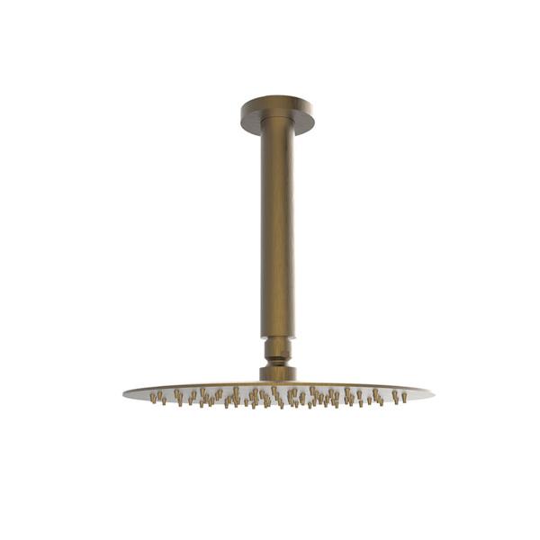 Εικόνα από Ανακλινόμενη Κεφαλή Ø25 Με Μπράτσο Οροφής 20cm Armando Vicario 800351-221 + 800087-221 Antique Brass