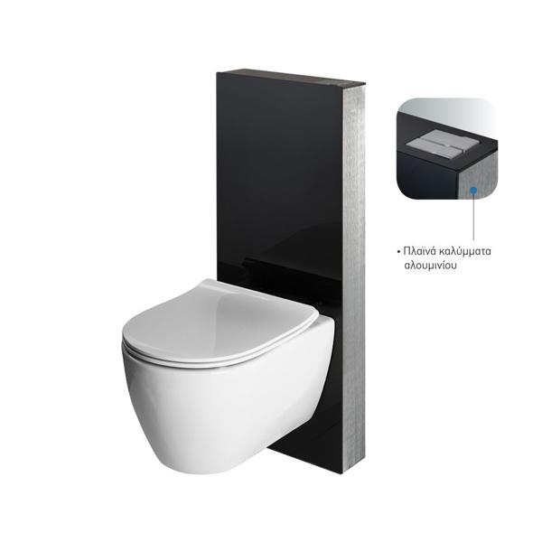 Εικόνα από Καζανάκι Εντοιχισμού Bocchi Glassbox 2500-400 Σε Γυάλινο Πλαίσιο Μαύρο Κρύσταλλο