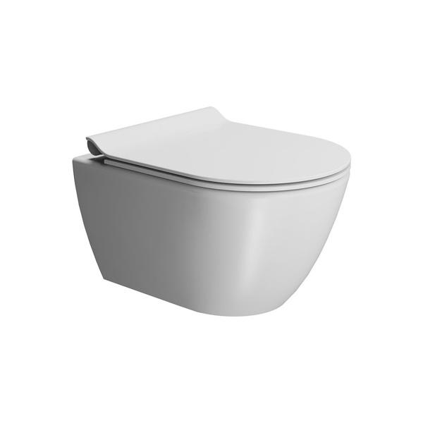 Εικόνα από Λεκάνη Κρεμαστή GSI Pura Swirl 881600SC-301 50cm White Matt Με Slim Soft Close Κάλυμμα
