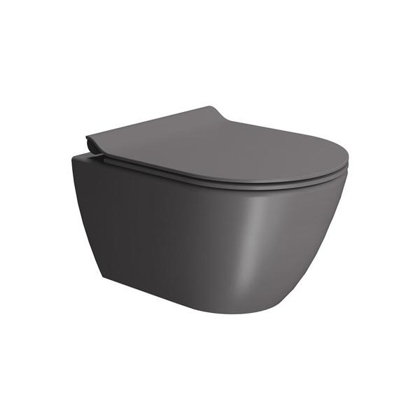Εικόνα από Λεκάνη Κρεμαστή GSI Pura Swirl 881600SC-530 50cm Bistro Με Slim Soft Close Κάλυμμα