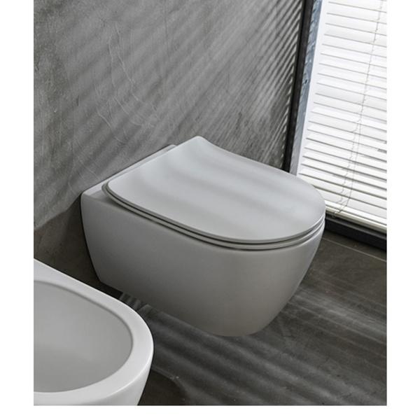 Εικόνα από Λεκάνη Κρεμαστή Scarabeo Moon Clean Flush 552000SC-301 Rimless 50,5cm White Matt Με Slim Soft Close Κάλυμμα