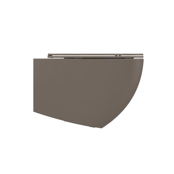 Εικόνα από Λεκάνη Κρεμαστή Bianco Ceramica Lenta 381500C-530 53cm Taupe Matt Με Soft Close Κάλυμμα