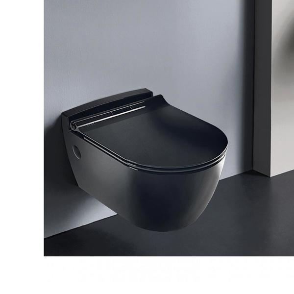 Εικόνα από Λεκάνη Κρεμαστή Serel Sapphire SP1000SC-401 Black Matt 52cm Με Slim Soft Close Κάλυμμα