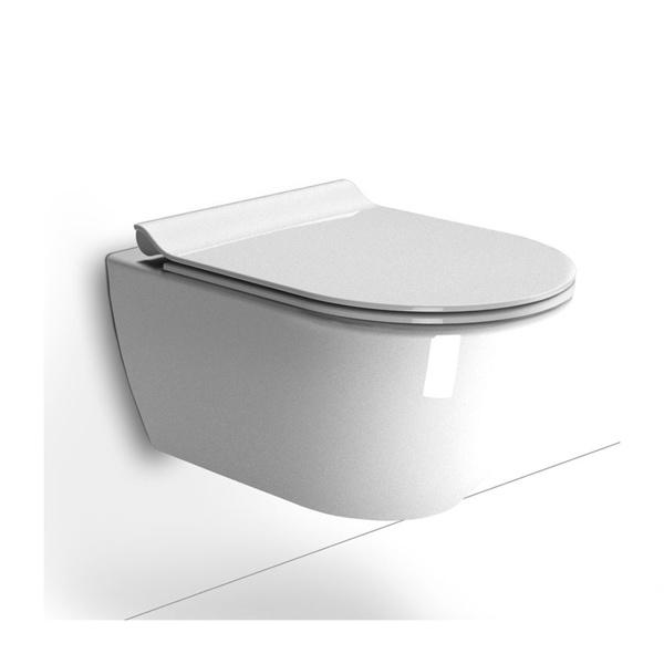 Εικόνα από Λεκάνη Κρεμαστή GSI Pura Swirl 881500SC 55cm Με Slim Soft Close Κάλυμμα