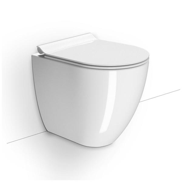 Εικόνα από Λεκάνη GSI Pura Swirl 882000SC 50cm Υψηλής Πίεσης Back to Wall Με Slim Soft Close Κάλυμμα