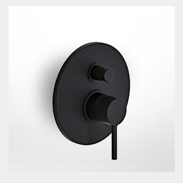 Εικόνα από Μίκτης Εντοιχισμού 2 Εξόδων Eurorama Tonda 145030-400 Black Matt