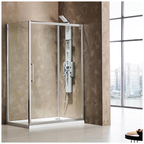 Εικόνα από Καμπίνα Ντουσιέρας Devon Primus Plus Slider 1+1 SLT150C-100 147-151cm Clean Glass