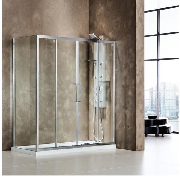 Εικόνα από Καμπίνα Ντουσιέρας Devon Primus Plus Slider 2+2 SL2T150C-100 147-151cm Clean Glass