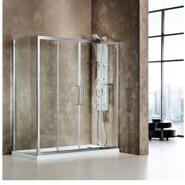 Εικόνα από Καμπίνα Ντουσιέρας Devon Primus Plus Slider 2+2 SL2T160C-100 157-161cm Clean Glass