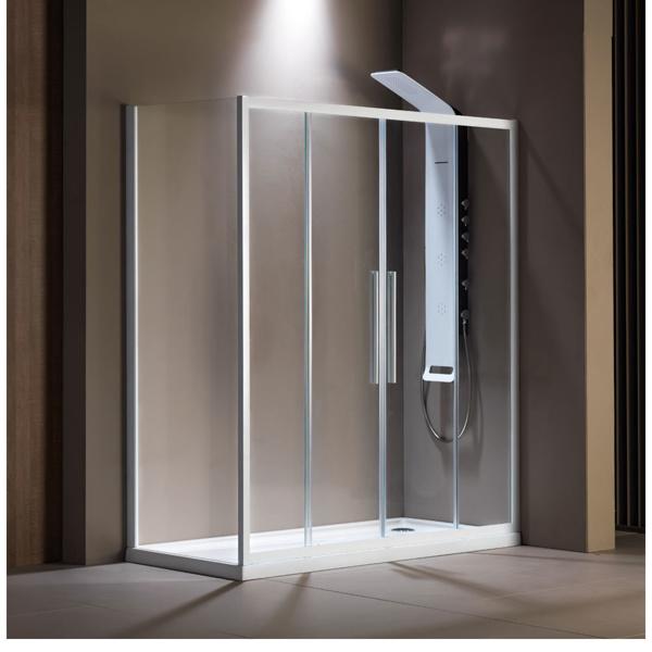 Εικόνα από Καμπίνα Ντουσιέρας Devon Flow Slider 2+2 SL2F180C-300 177-181cm White Matt Clean Glass