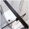 Εικόνα από Καμπίνα Ντουσιέρας Devon Primus Plus Pivot + Infill PIR100C-400 97-101cm Black Matt Clean Glass
