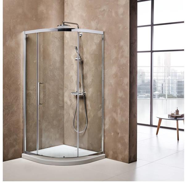 Εικόνα από Καμπίνα Ντουσιέρας Ημικυκλική Devon Primus Plus Quadrant  QT80C-100 80x80cm Clean Glass