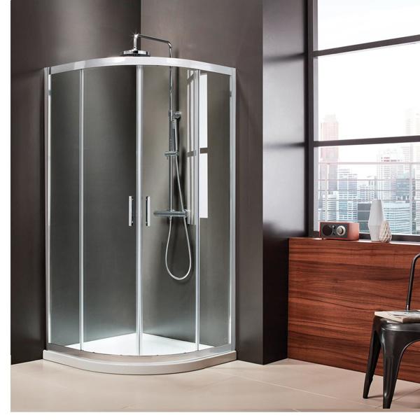 Εικόνα από Καμπίνα Ντουσιέρας 1/4 Κύκλου Axis Quadrant QX90C-100 90x90cm Clean Glass