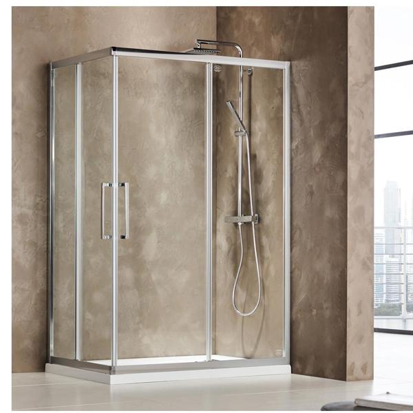 Εικόνα από Καμπίνα Ντουσιέρας Devon Primus Plus Corner Entry  CT10070C-100 100x70cm Clean Glass