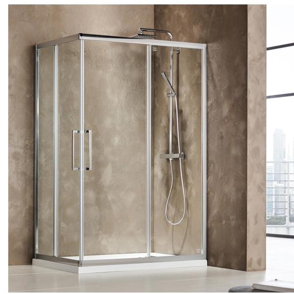 Εικόνα από Καμπίνα Ντουσιέρας Devon Primus Plus Corner Entry  CT10080C-100 100x80cm Clean Glass