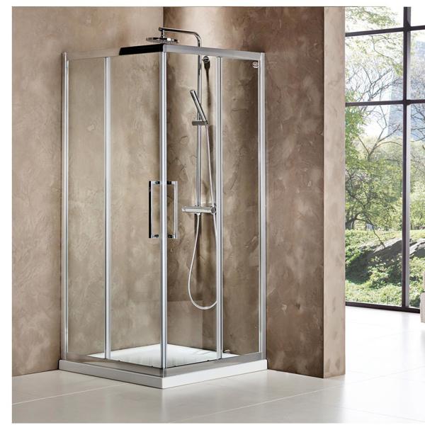 Εικόνα από Καμπίνα Ντουσιέρας Devon Primus Plus Corner Entry  CT90C-100 90x90cm Clean Glass