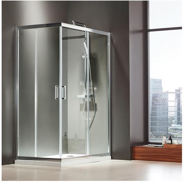Εικόνα από Καμπίνα Ντουσιέρας Axis Corner Entry  CX10080C-100 100x80cm Clean Glass