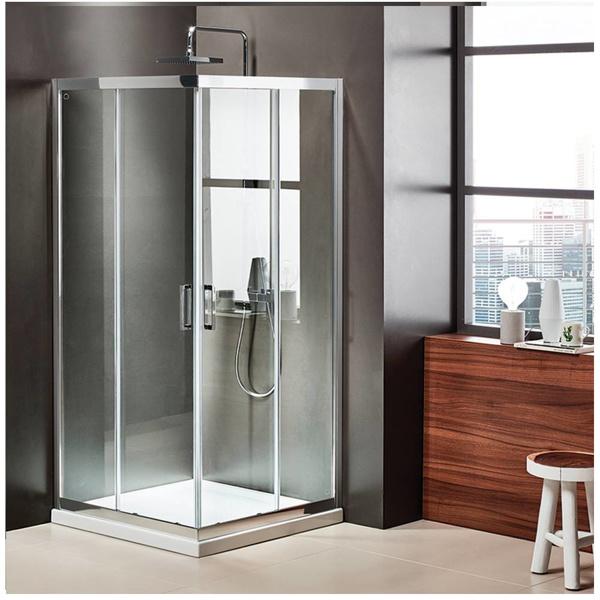 Εικόνα από Καμπίνα Ντουσιέρας Axis Corner Entry  CX80C-100 80x80cm Clean Glass