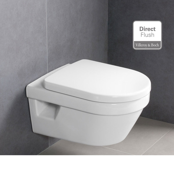 Εικόνα από Λεκάνη Κρεμαστή Villeroy & Boch Architectura 5684HR01 Rimless 53cm Με Soft Close Κάλυμμα