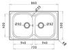 Εικόνα από Νεροχύτης Pyramis Amaltia (86x50) 2B Σαγρέ 107121201