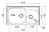 Εικόνα από Νεροχύτης Pyramis Amaltia Plus (86x50) 2B Σαγρέ 107125101