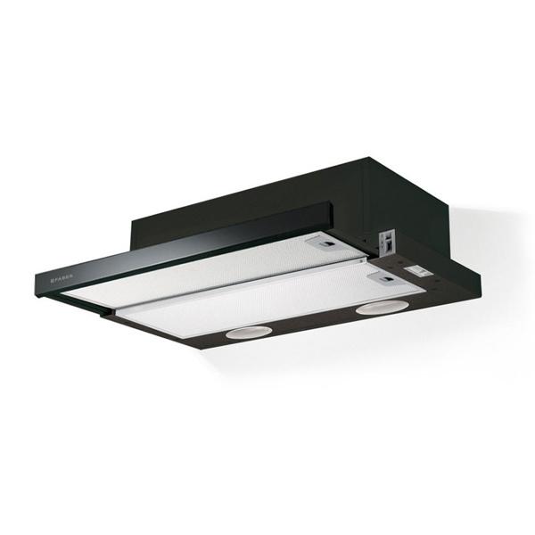 Εικόνα από Απορροφητήρας Faber Flexa Glass BK A60 Συρόμενος 60cm Μαύρος
