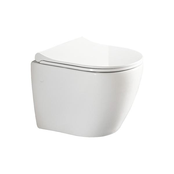 Εικόνα από Λεκάνη Κρεμαστή Bianco Ceramica Vito VT01000SC 48cm Με Slim Soft Close Κάλυμμα