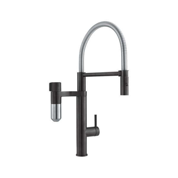 Εικόνα από Μπαταρία Κουζίνας Franke Semi Pro Vital Capsule Filter Ντους  Industrial Black / Χρωμέ 3202101014