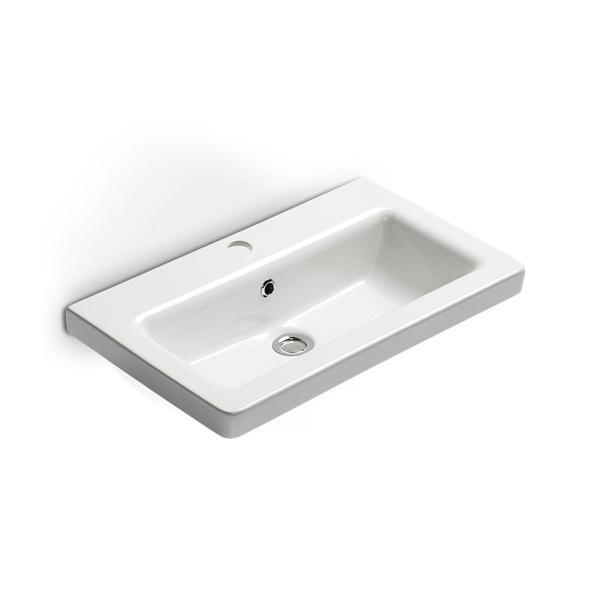 Εικόνα από Νιπτήρας Μπάνιου Bianco Ceramica Urban 35060 60x35cm